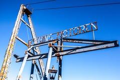 阿姆斯特丹,荷兰- 2016年8月15日:阿姆斯特丹-荷兰 老工业造船工厂 库存照片