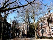 阿姆斯特丹,荷兰- 2016年3月13日:Vondel教会场面 免版税库存图片