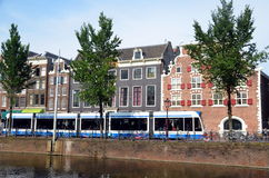 阿姆斯特丹,都市风景 免版税库存照片