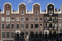 阿姆斯特丹, Nederlands -威严18 2015 - 倾斜的房子  库存图片