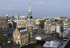 阿姆斯特丹从上面,荷兰 免版税库存图片