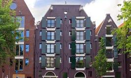 阿姆斯特丹-典型的荷兰房子 图库摄影