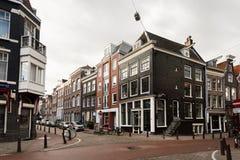 阿姆斯特丹离开的街道  库存图片