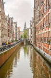 阿姆斯特丹- 2015年9月17日:在著名钟楼o的看法 免版税库存照片