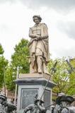 阿姆斯特丹- 2015年9月17日:在Rembrant pa的Rembrant纪念碑 库存照片
