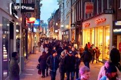 阿姆斯特丹购物 免版税库存图片