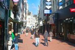 阿姆斯特丹购物 免版税库存照片