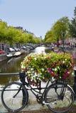 阿姆斯特丹;荷兰- 8月18;2015年:在Leidseplei的看法 图库摄影