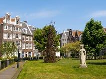 阿姆斯特丹begijnhof现场 免版税库存图片