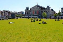 阿姆斯特丹citycenter, Museumplein,荷兰 免版税库存照片