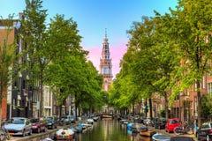阿姆斯特丹Groenburgwal运河 免版税库存图片
