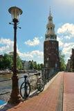 阿姆斯特丹montelbaanstoren荷兰塔 免版税库存图片