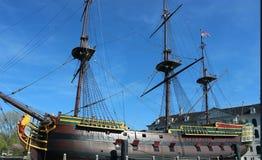 阿姆斯特丹VOC船 免版税库存图片
