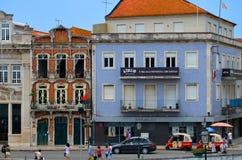 阿威罗,葡萄牙:都市建筑学 免版税库存照片