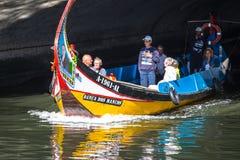 阿威罗,葡萄牙- 2015年5月22日, :传统小船在阿威罗 免版税图库摄影