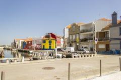 阿威罗-葡萄牙的都市视图 免版税库存照片