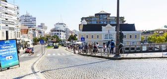 阿威罗/葡萄牙2017年8月13日:街道  免版税库存照片
