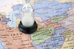 阿富汗伊朗运行时间 库存照片