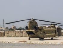 阿富汗军用战斗直升机在2018年的夏天 免版税图库摄影