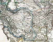 阿富汗古色古香的伊朗映射 免版税库存照片