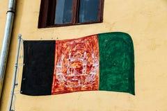 阿富汗旗子在2018年的夏天 图库摄影