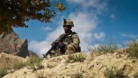 阿富汗美国人ii巡逻战士 库存图片