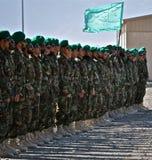 阿富汗陆军新兵训练所毕业国民 库存图片