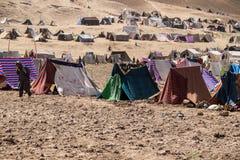 阿富汗难民营和图象在西北部战斗的季节中 图库摄影
