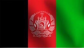 阿富汗-传染媒介例证的旗子 免版税库存照片
