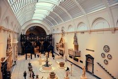 阿尔伯特和维多利亚博物馆内部 库存照片
