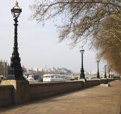 阿尔伯特堤防伦敦英国 免版税库存图片