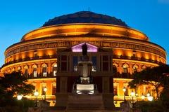 阿尔伯特大厅伦敦晚上皇家视图 图库摄影
