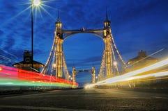 阿尔伯特桥梁伦敦 免版税库存图片