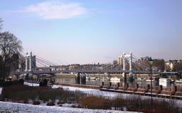 阿尔伯特桥梁 免版税库存图片
