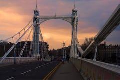 阿尔伯特桥梁 免版税图库摄影