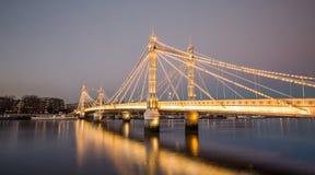 阿尔伯特桥梁 库存照片