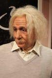 阿尔伯特特写镜头爱因斯坦雕象蜡 免版税库存图片