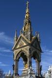 阿尔伯特纪念品-伦敦-英国 免版税图库摄影