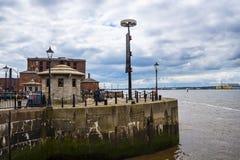 阿尔伯特船坞在利物浦在默西赛德郡在英国 库存照片