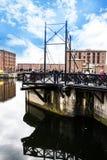 阿尔伯特船坞在利物浦在默西赛德郡在英国 免版税库存图片