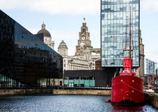 阿尔伯特船坞,利物浦 库存照片