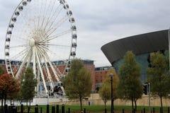 阿尔伯特船坞,江边,在利物浦在英国 免版税库存图片