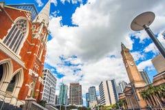 阿尔伯特街团结的教会布里斯班澳大利亚 免版税库存照片