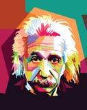 阿尔伯特・爱因斯坦流行艺术 免版税库存图片