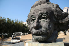 阿尔伯特・爱因斯坦雕象  免版税图库摄影