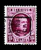 阿尔伯特I (1875-1934),类型Houyoux, serie国王,大约1923年 图库摄影
