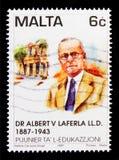 阿尔伯特Laferla,教育serie的先驱医生画象,大约1997年 库存图片
