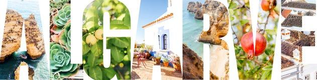 阿尔加威信件用图片填装了从南葡萄牙 图库摄影