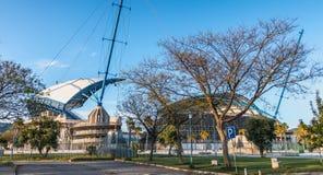 阿尔加威橄榄球场的建筑细节 免版税库存照片