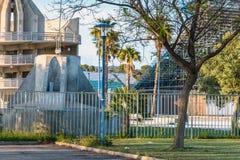 阿尔加威橄榄球场的建筑细节 免版税图库摄影
